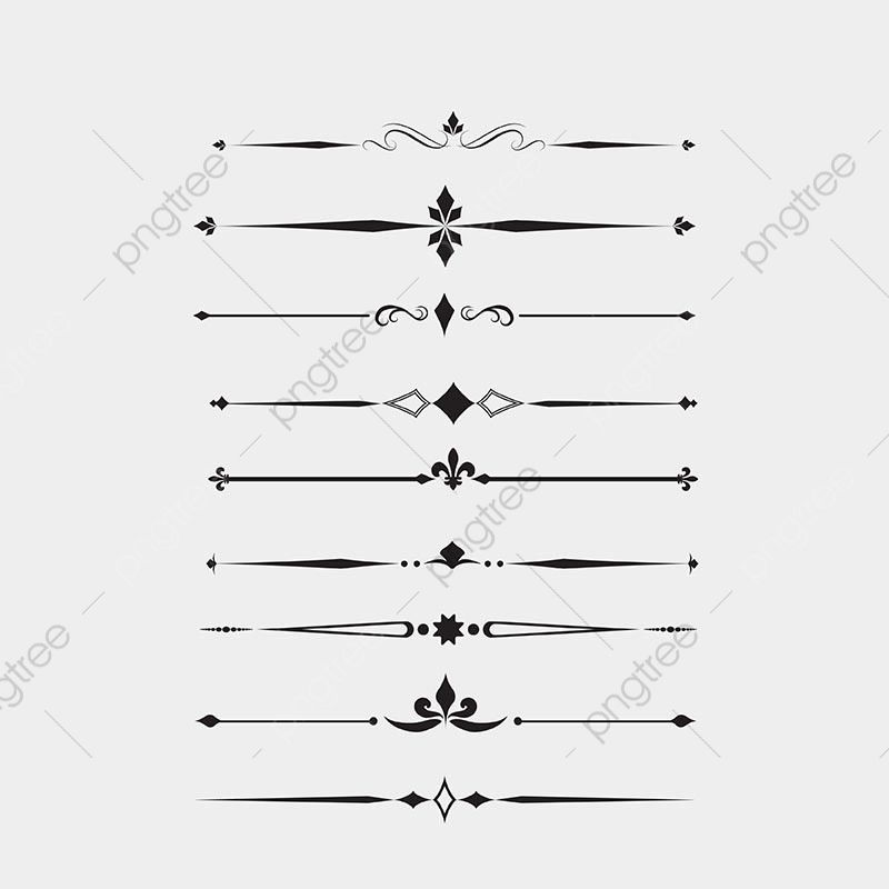 Decorative Lines Dividing Lines Continental Line Dividing Line Png And Vector With Transparent Background For Free Download Decorative Lines Black And White Art Drawing Photoshop Logo