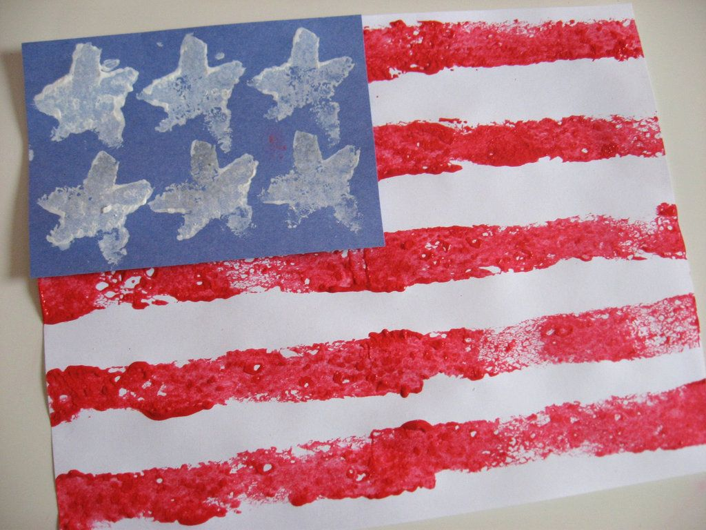 f09cba0dd816 Here s an easy and fun-to-make American flag craft that is made with the  help of a sponge. Thanks to No Time For Flash Cards