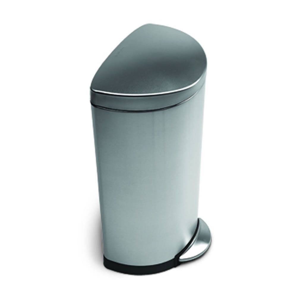 Fingerprint Proof And Perfect For Space By Half Cupboard. Simplehuman 30ltr  Semi Round Fingerprint Proof