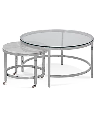 Coffee Tables Macy S In 2020 Nesting Coffee Tables Round Nesting Coffee Tables Coffee Table
