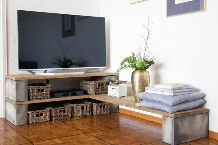 Fabriquer Un Meuble Tv Instructions Et Modeles Diy Fabrication Meuble Fabriquer Meuble Tv Petit Meuble Tv