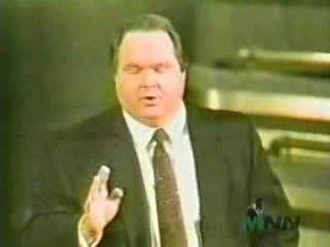 A Bully Gets Bullied -  Here is a pretty bizarre, and quite old video from his TV show. It shows Limbaugh losing complete control of his audience and most likely the reason he won't invite free speech onto his show today.