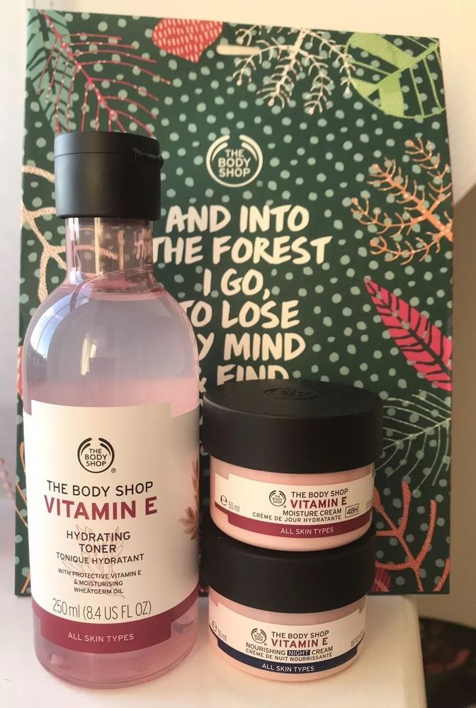 Brand New Body Shop Vitamin E Skincare Collection Gift Set Ebay Body Shop Vitamin E Body Shop Skincare The Body Shop