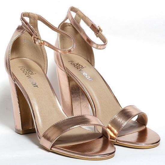 e351e66f1ca2 Korkys Shoes - Rose Gold Strappy Heel - DB57 ROSE