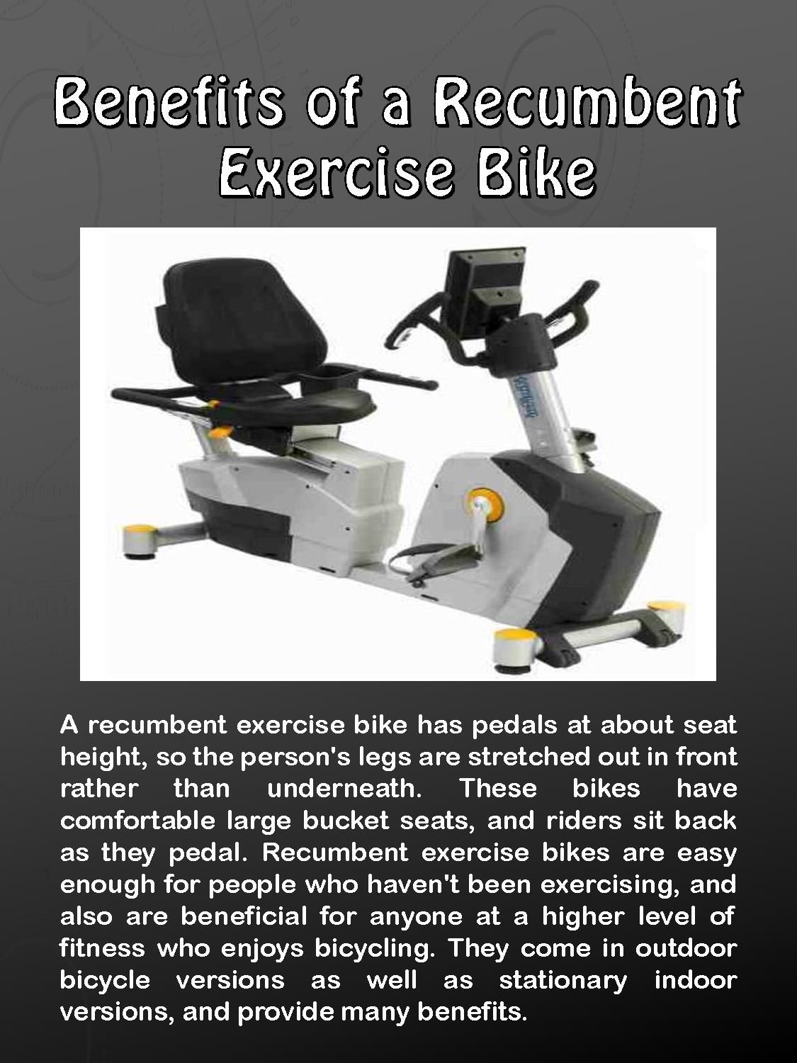 Benefits Of A Recumbent Exercise Bike Recumbent Bike Workout