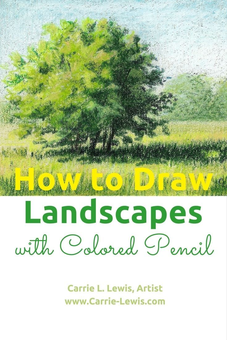 How to Draw Landscapes with Colored Pencil #LandscapeDrawing ...
