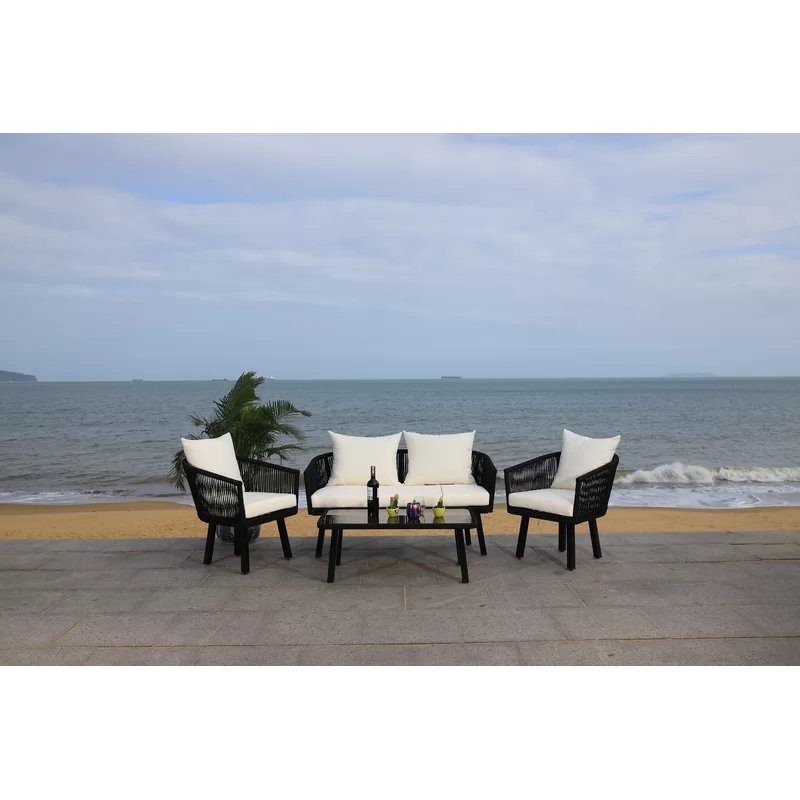 Oropeza 4 Piece Sofa Seating Group With Cushions Outdoor Sofa Sets Seating Groups Outdoor Sofa