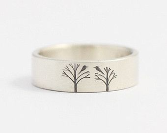 Men S Wedding Ring Art Deco Tree Por Ashhilton