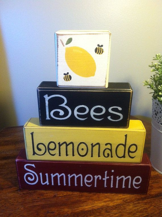 Hey, I found this really awesome Etsy listing at https://www.etsy.com/listing/154473101/primitive-wood-block-set-summertime-bees