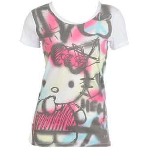 Hello Kitty Graffiti Tee - Teen Clothing by Wet Seal - Polyvore