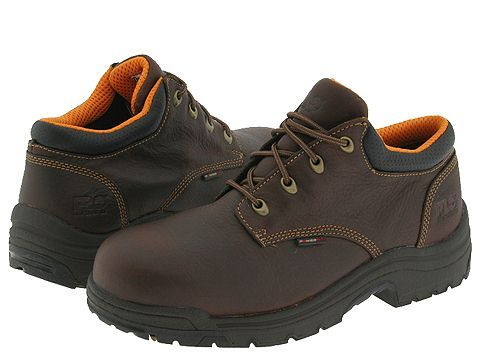 Timberland PRO TiTAN(r) Alloy Safety Toe Oxford Men's Industrial Shoes  Haystack Brown Oiled