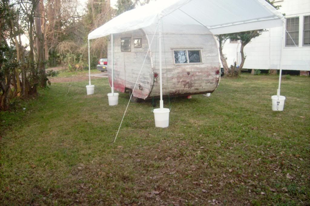 EZ Up type shelter in Vintage Trailer Discussion Forum : pvc pipe canopy frame - memphite.com