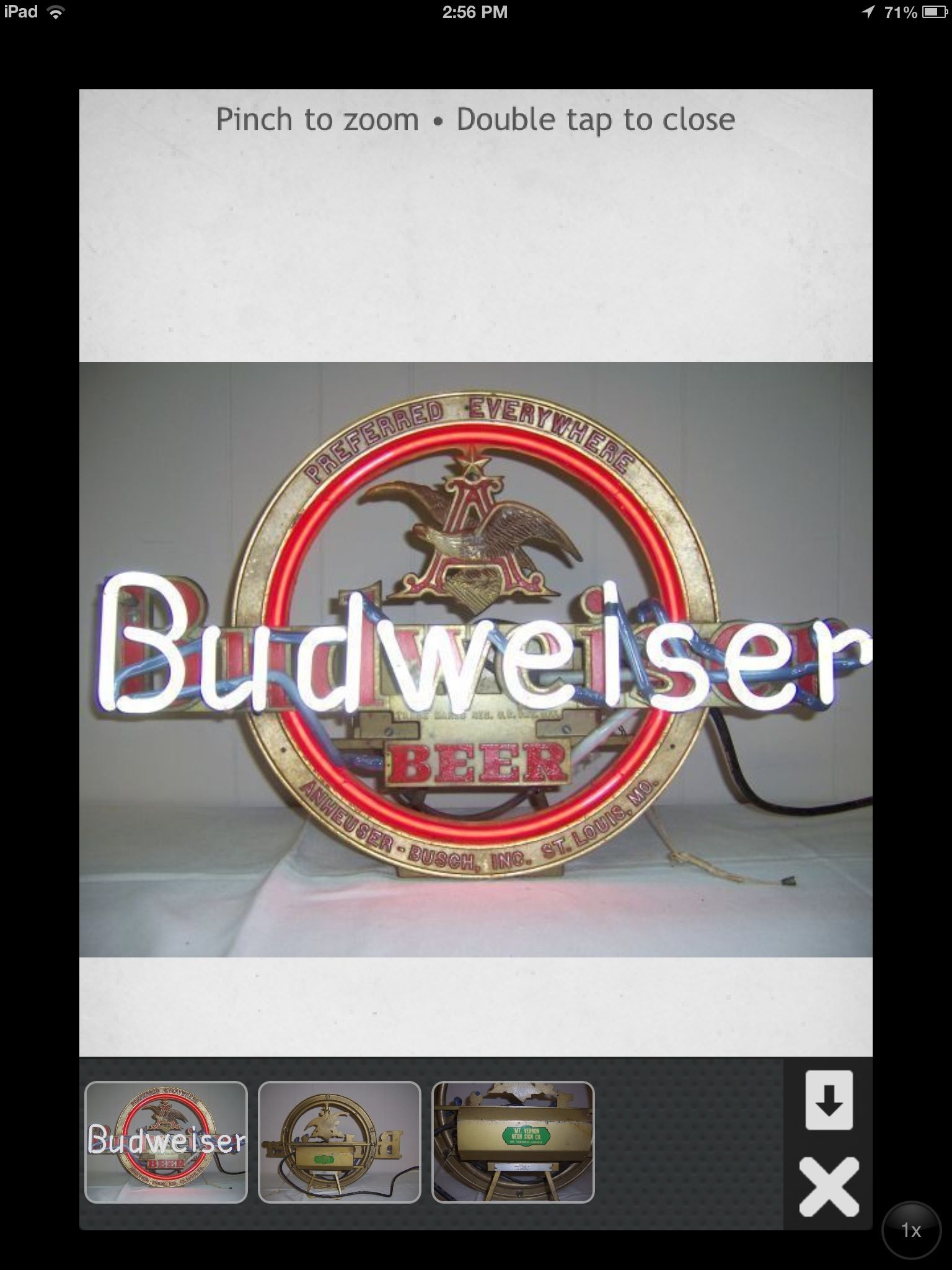 Budweiser Neon Beer Sign antique | Bar signs | Neon beer