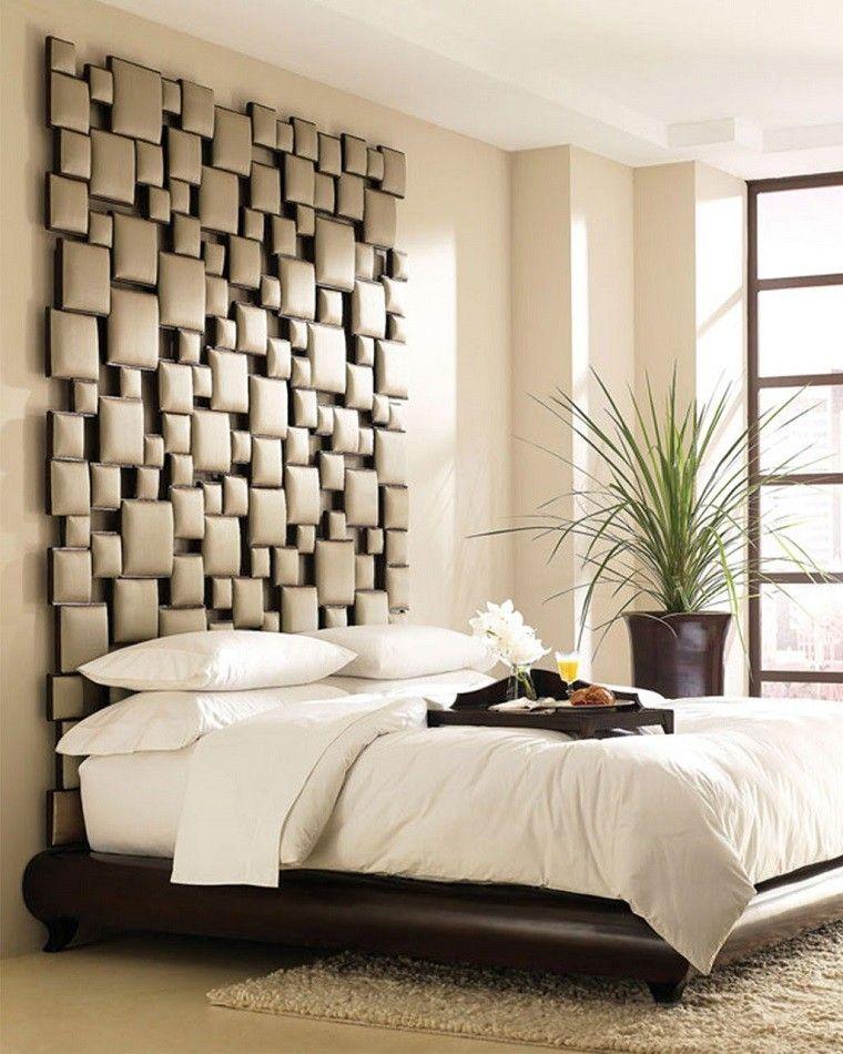 Cabeceros originales 70 ideas para el dormitorio de tus for Foto del dormitorio principal moderno