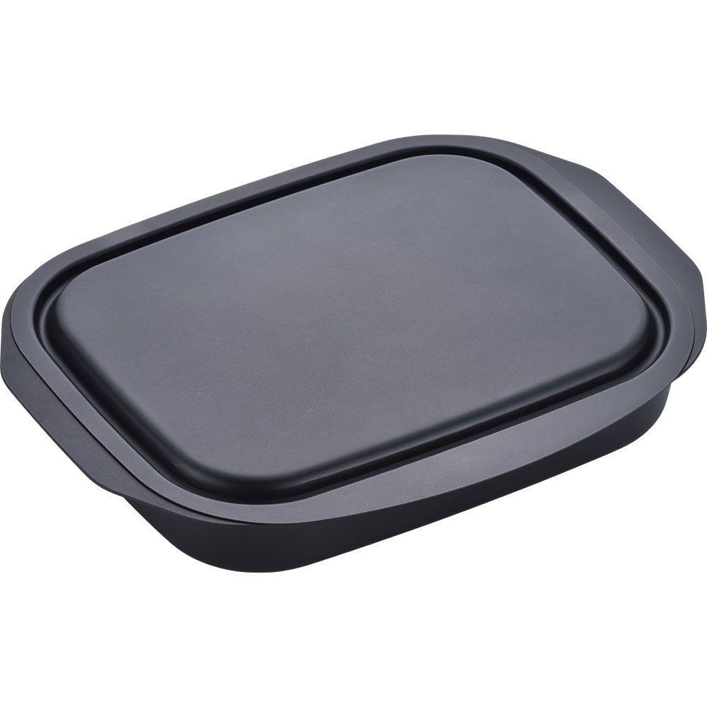 Amazon Co Jp 和平フレイズ グリルパン 焼く 蒸す 温め直し ランチーニ 角型 17 22cm 蓋付 鉄 Ra 9505 ホーム キッチン 魚焼きグリル グリル 耐熱皿