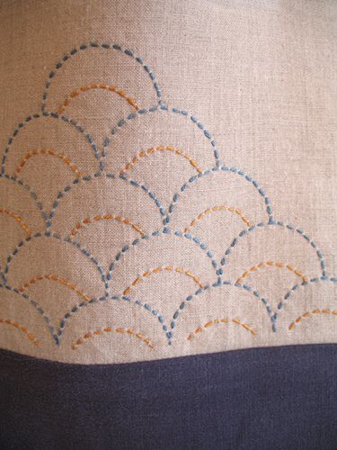 lovely scalloped stitching and very simple.