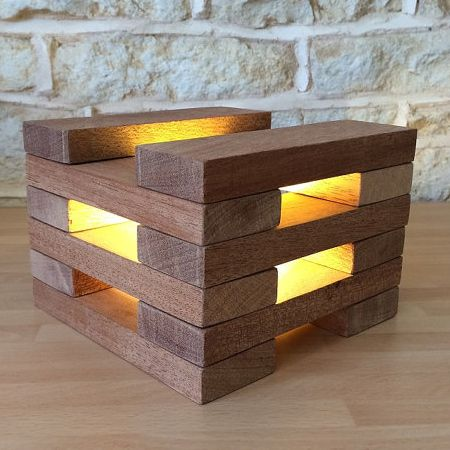 Another Variation Of Using Blocks To Design A Unique Lamp