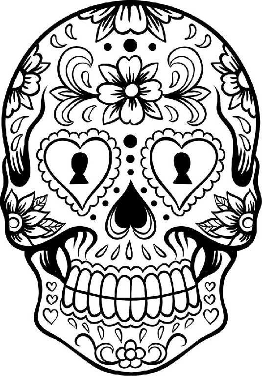 skulls coloring pages sugar skull and mexican flowers coloring pages   Google Search  skulls coloring pages