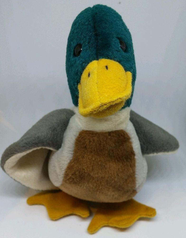 372524b9418 Ty Beanie Baby JAKE the Mallard Duck RETIRED - 1998 Green Hunt plush stuffed  7
