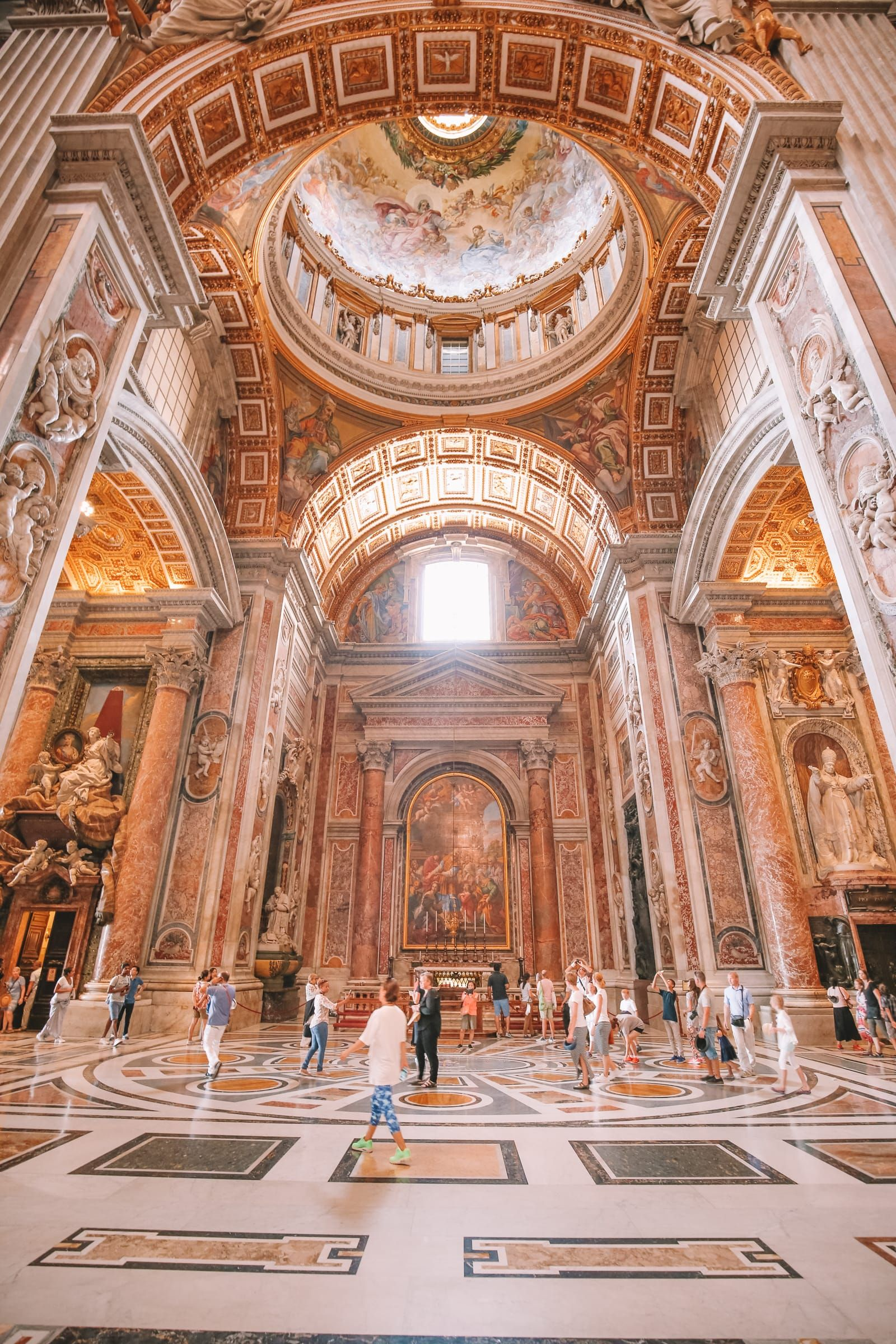 Photo of The Magnificent St Peter's Basilica In The Vatican City, Rome