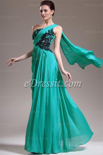 Elegant One Diagonale Schulter Abendkleid (00136711) | kleid ...