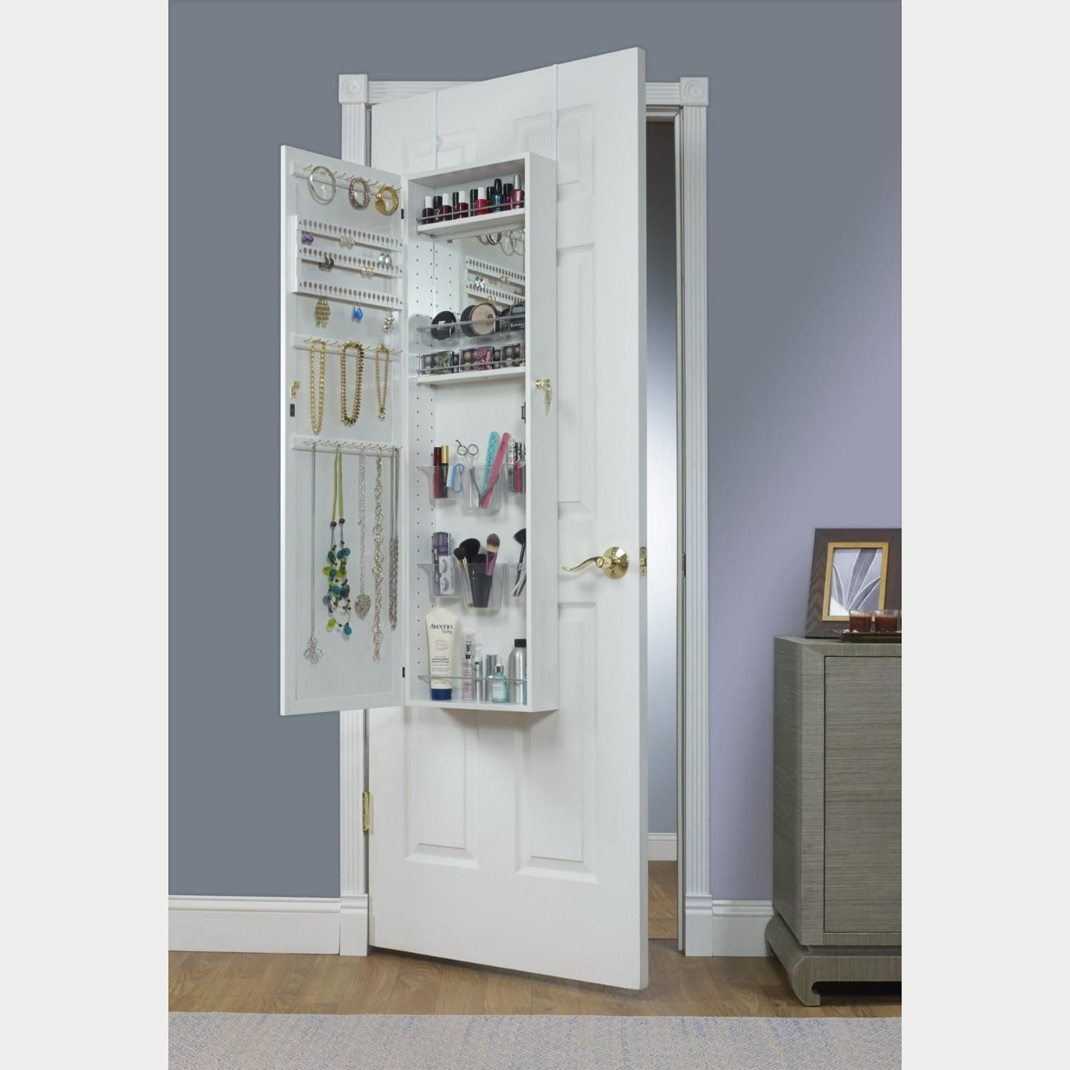 White Armoire With Mirror For The Door Home Closets Pinterest