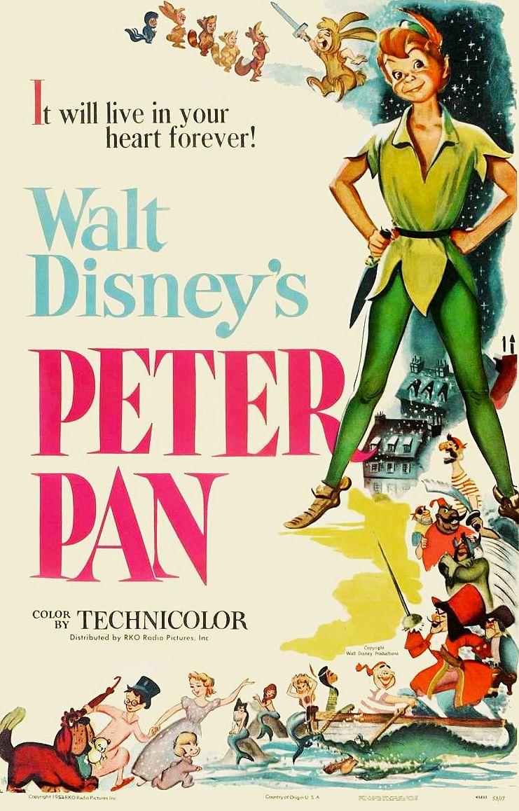 Peter Pan (1953) | Peter pan de disney, Posters disney vintage, Affiches  disney