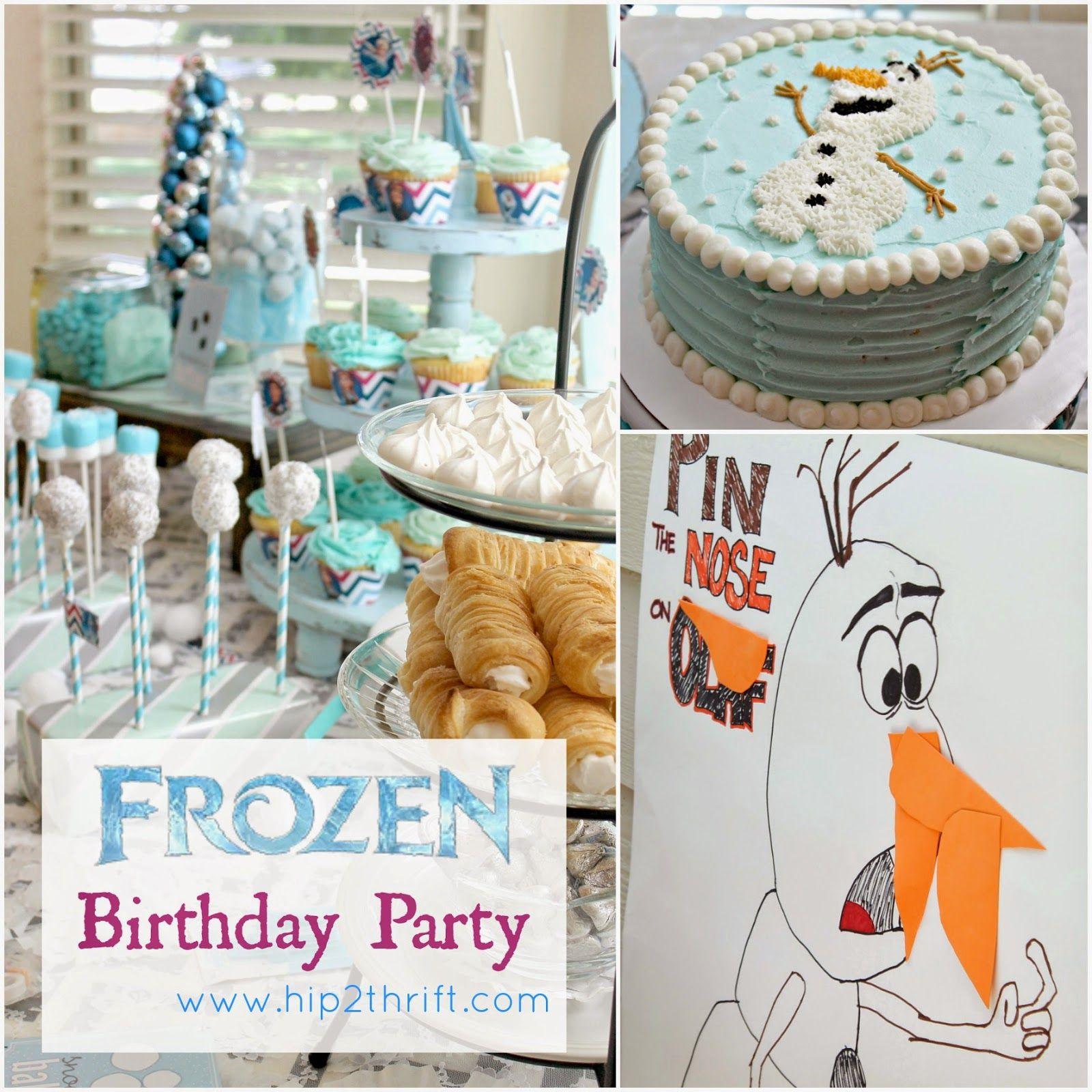 hip2thrift Disney Frozen Birthday Party Parties Pinterest