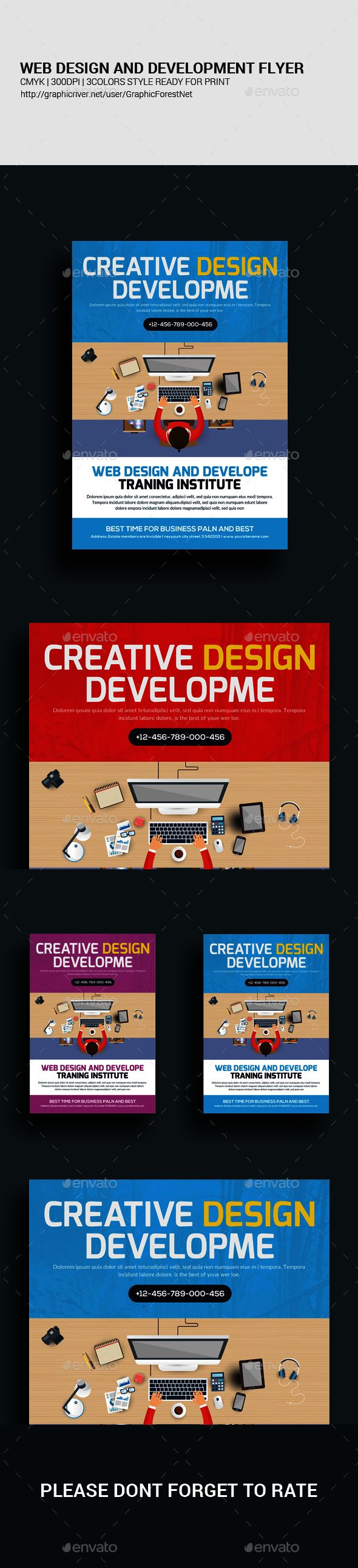 Website Design And Develop Agency Flyer Psd  Website Designs