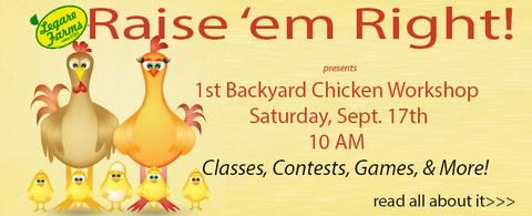 Legare Farms Offers First Backyard Chicken Class on September 17 Featuring…