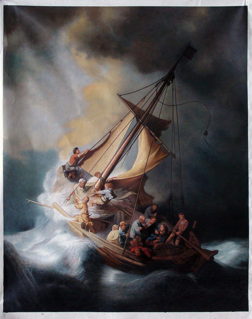 Cristo En La Tormenta Sobre El Lago Galilea Rembrandt рембрандт светотень картины рембрандта