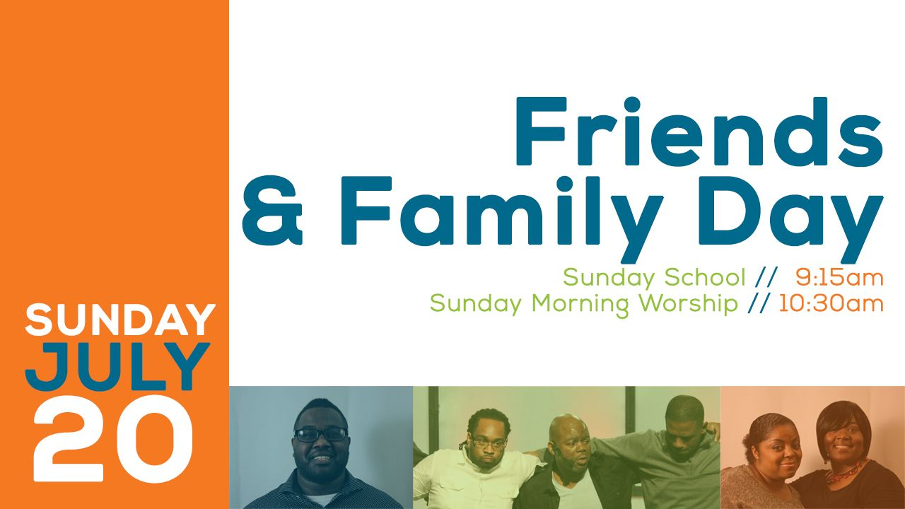 Family And Friends Day Church Program Ministry Ideas Pinterest
