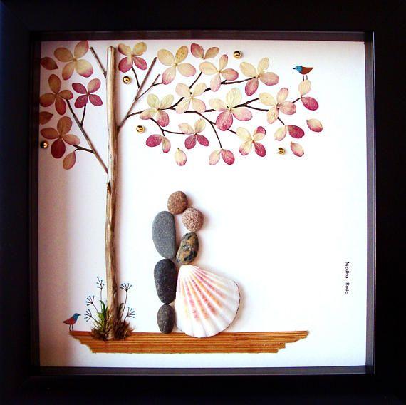 Wedding Gift Pebble Art Unique Engagement Present S