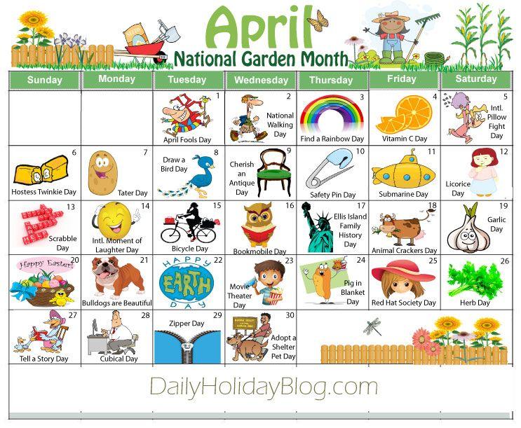 april holidays calendar free download Daycare calendar