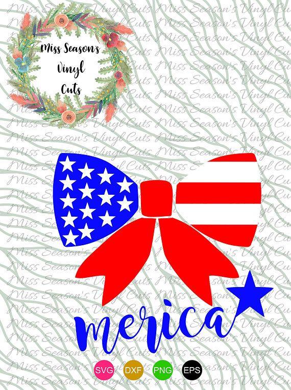 Download Merica Bow Flag SVG, Dxf, Eps, Png  American Flag SVG ...