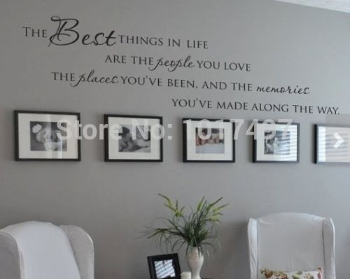 The Best Things In Life Vinyl Wall Decals ~ Love Memories Wall Quote Home  Art Vinyl Part 63