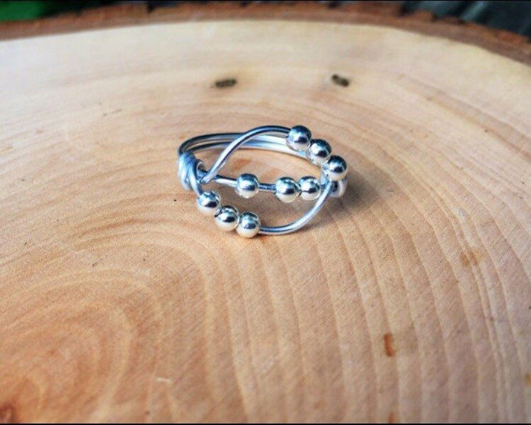 Spinner Ring, Worry Ring, Anxiety Ring, Stress Ring, Meditation Ring by JackieHandmadeCrafts on Etsy https://www.etsy.com/listing/270633411/spinner-ring-worry-ring-anxiety-ring
