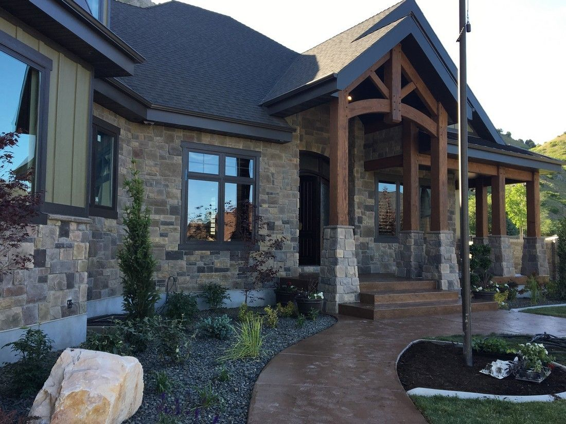 More paint colors from the uv parade of homes my favorite home - Utah Valley Parade Of Homes 2016 Mountain Traditional Home Exterior Hhdu Harristone