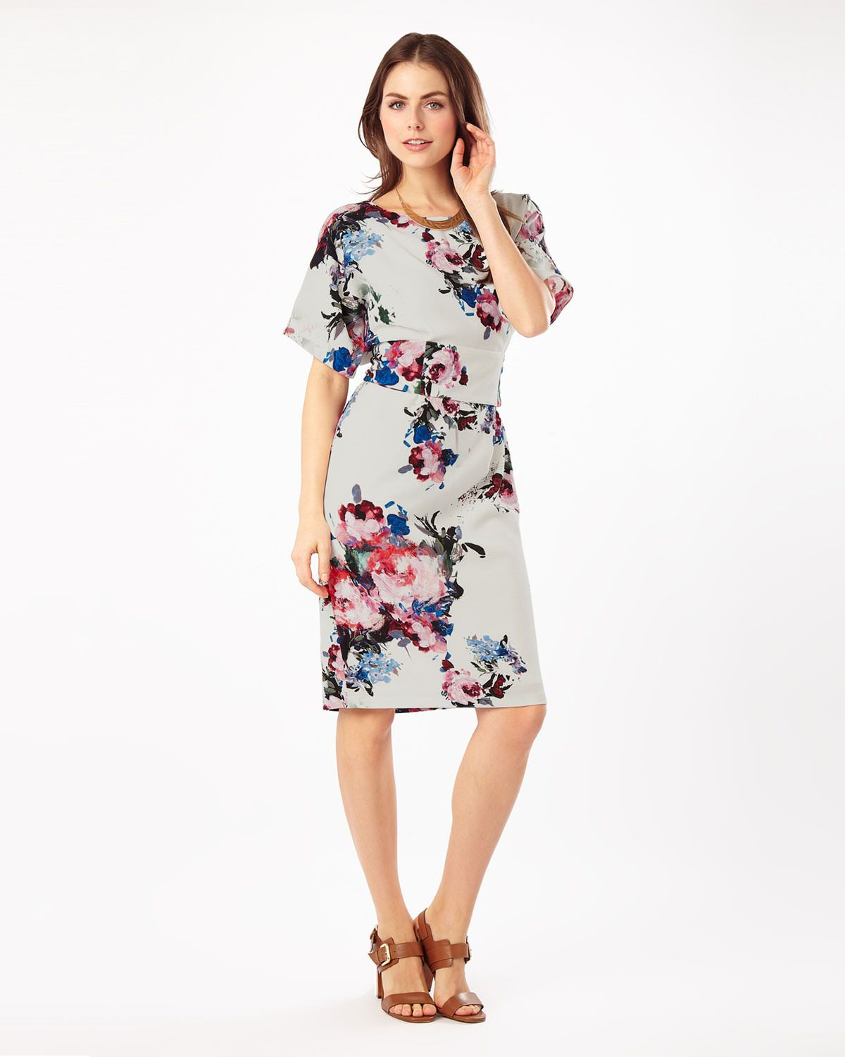 Zoe Floral Dress Multi Coloured Phase Eight Yesterdays Yarns