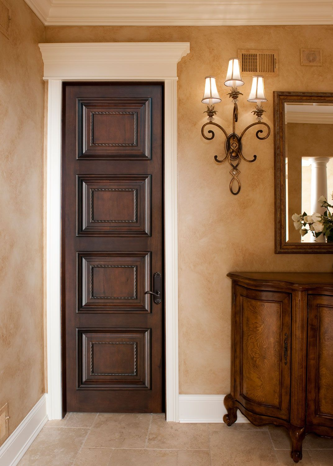 Interior Door Custom Single Solid Wood With Glh 500 Finish