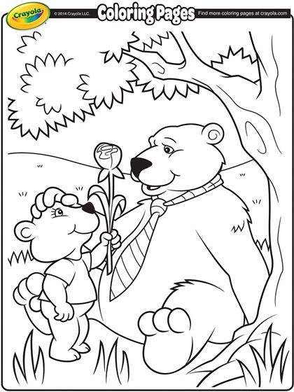 This Adorable Daddy Bear Free Coloring Page Is Sure To Be A Hit