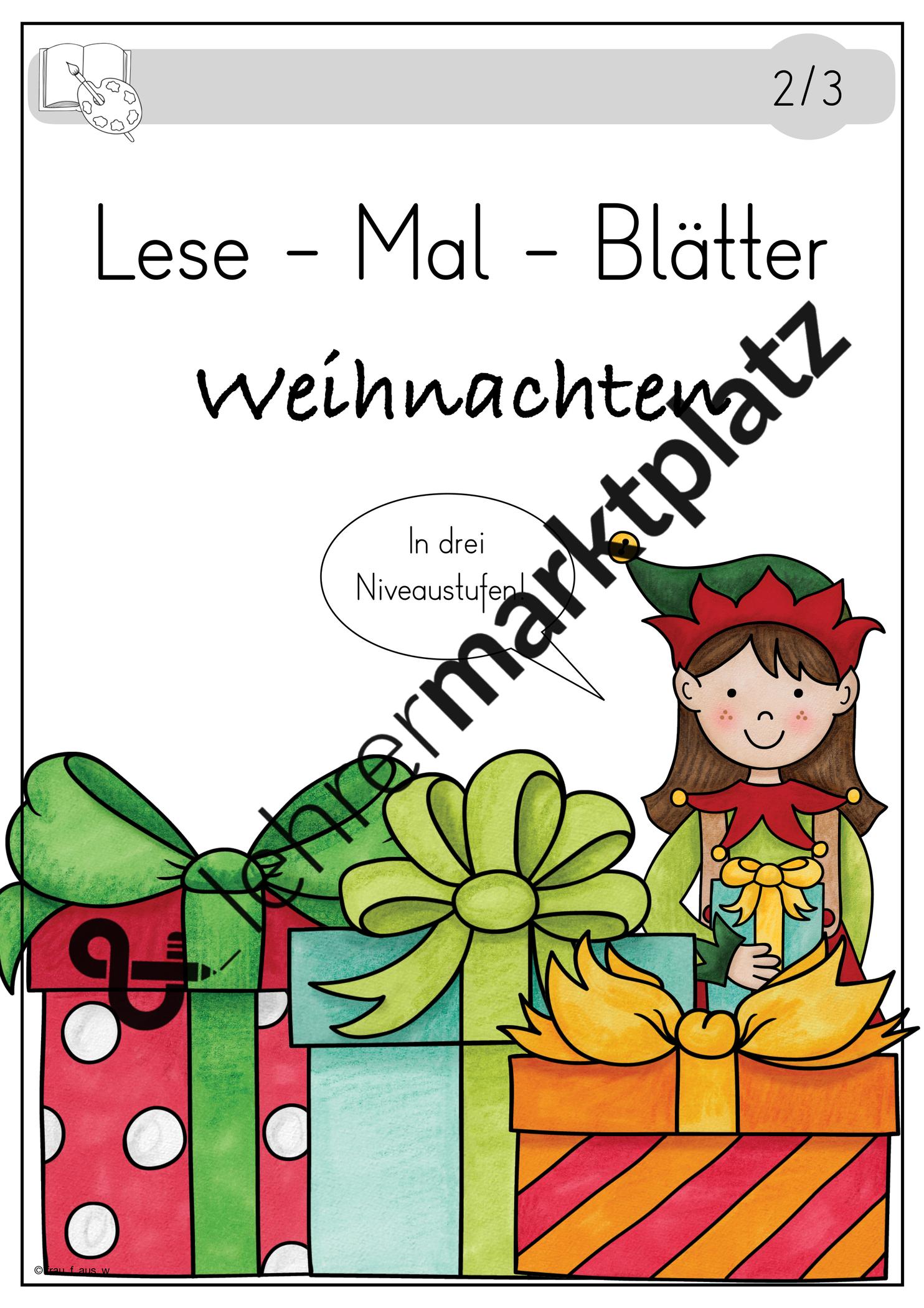 Lese Mal Blatter Weihnachten Weihnachtenauflmp