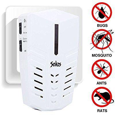 Pest Control Sokos Ultrasonic Electric Pest Repeller Wall Plug In Indoor Pest Control Repellent For Pest Control Pest Control Bed Bugs Electronic Pest Control