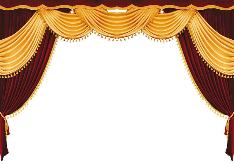 Theatre Stage Curtain Powerpoint Backgrounds 800x562
