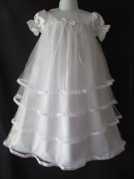 Hey, I found this really awesome Etsy listing at https://www.etsy.com/listing/106157375/baby-girl-satin-tulle-christening-gown