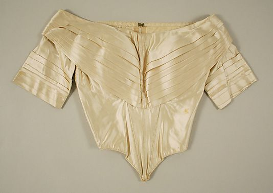 1840, America or Europe - Silk evening bodice