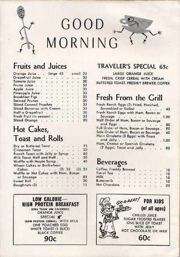 Vintage Menu Collection Vintage Menu Breakfast Menu Design Diner Menu