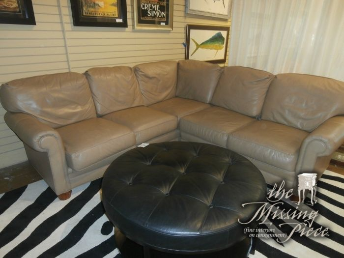 Swell Leather Sectional In Putty By Harden Furniture Quality Short Links Chair Design For Home Short Linksinfo