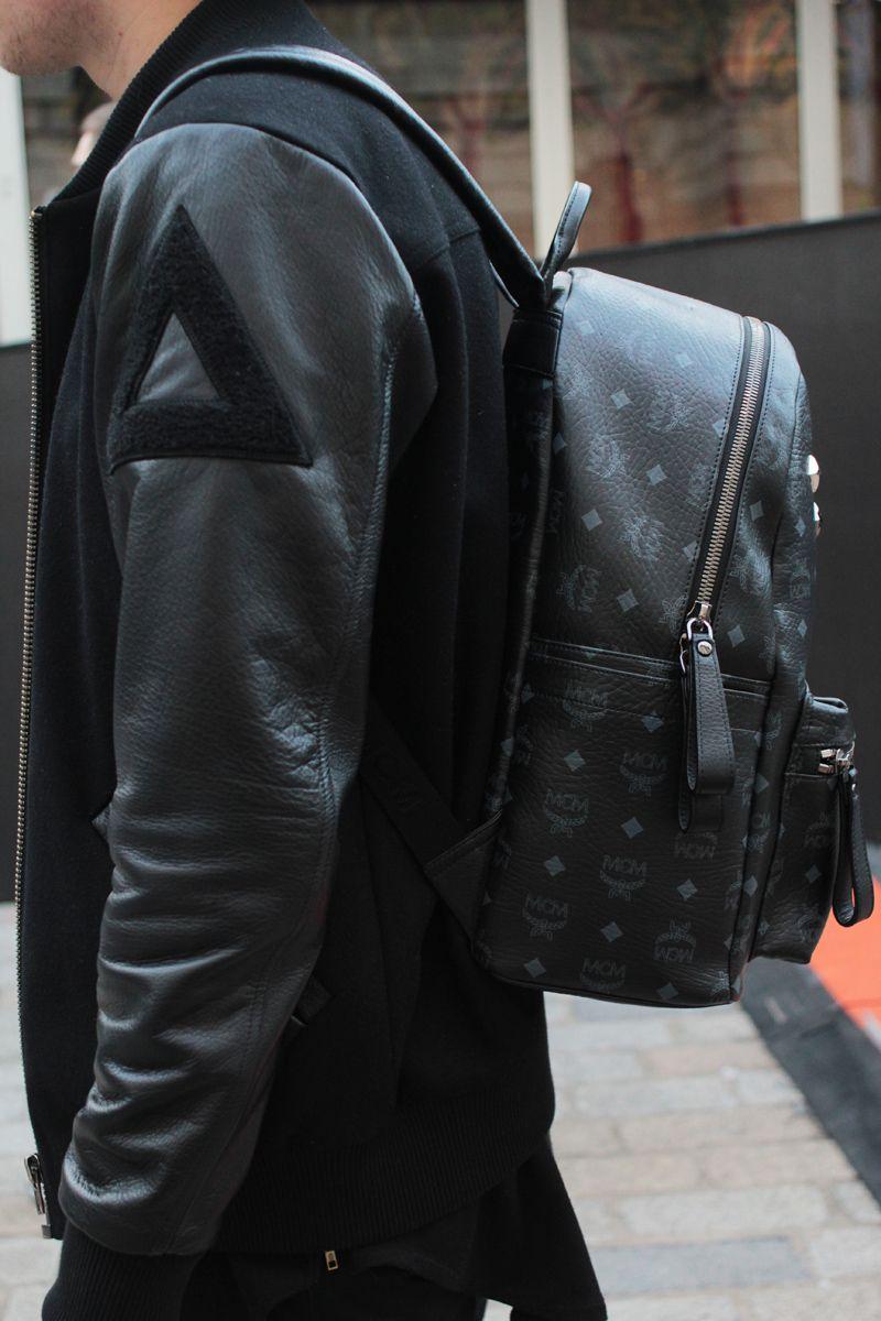 MCM backpack. Black on Black. #mens #fashion | Ayns