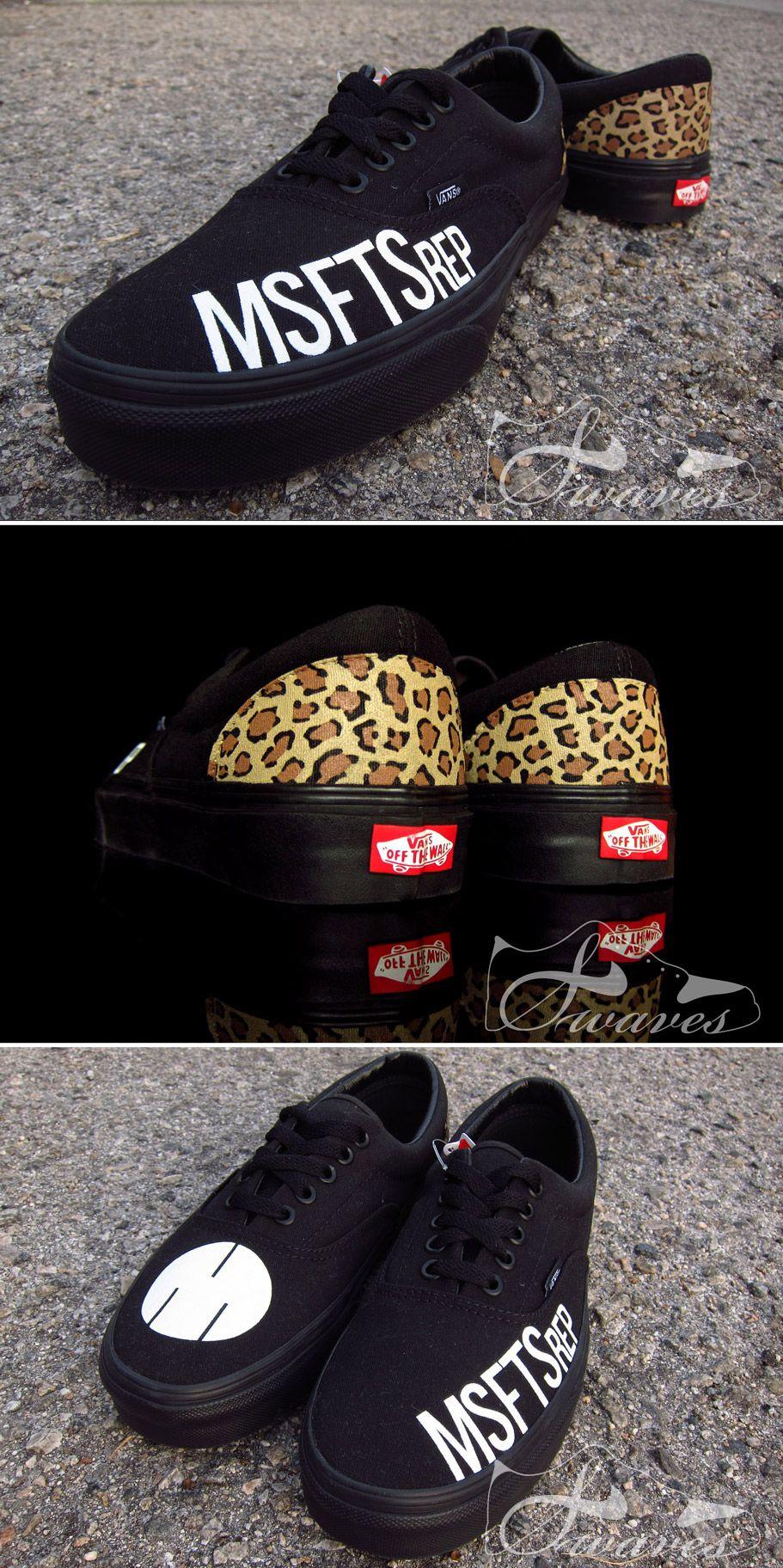 """Custom """"MSFTSrep"""" Vans Era sneakers for Jaden Smith ..."""